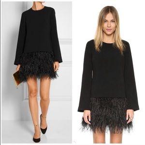 """Elizabeth & James """"Serena"""" ostrich feather dress 0"""